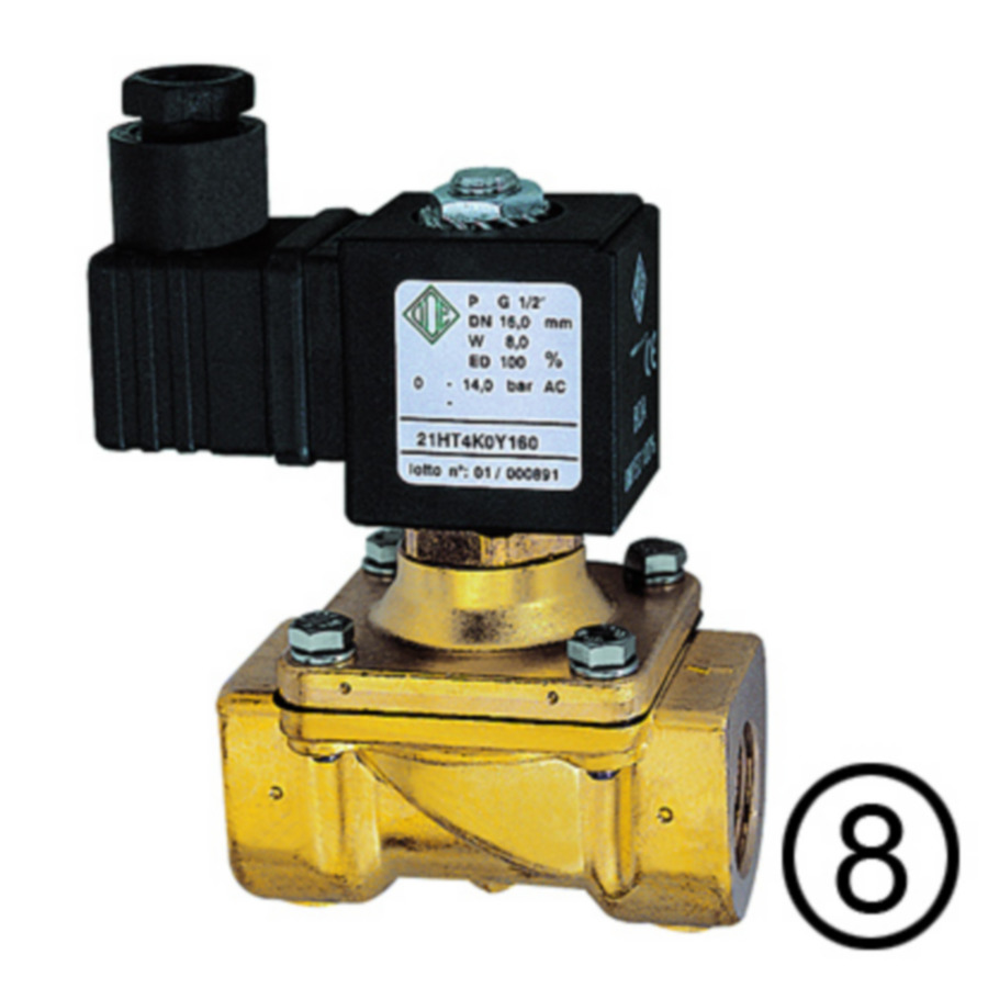 Solenoid valves, closed when de-energised, combined operation