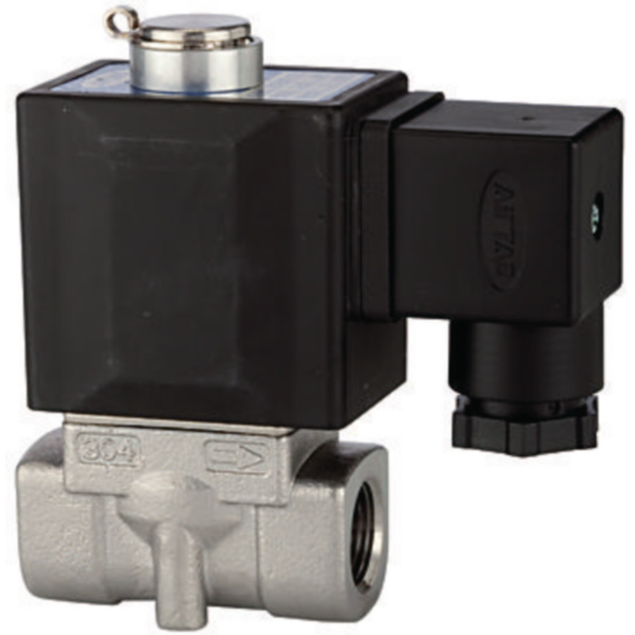 Solenoid valves, normally open, directly operated