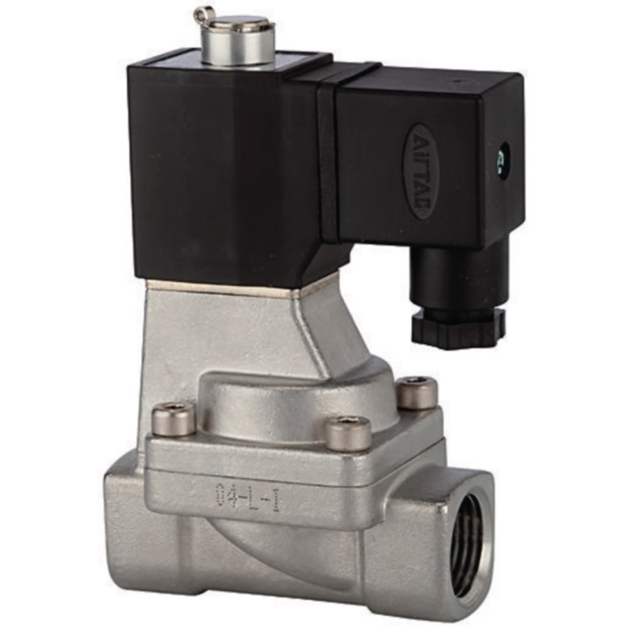 Solenoid valves, normally open, pilot-operated