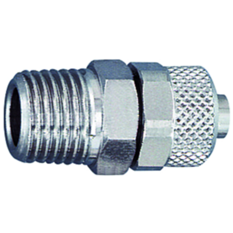 Swivel nuts with kink protector - nickel-plated brass
