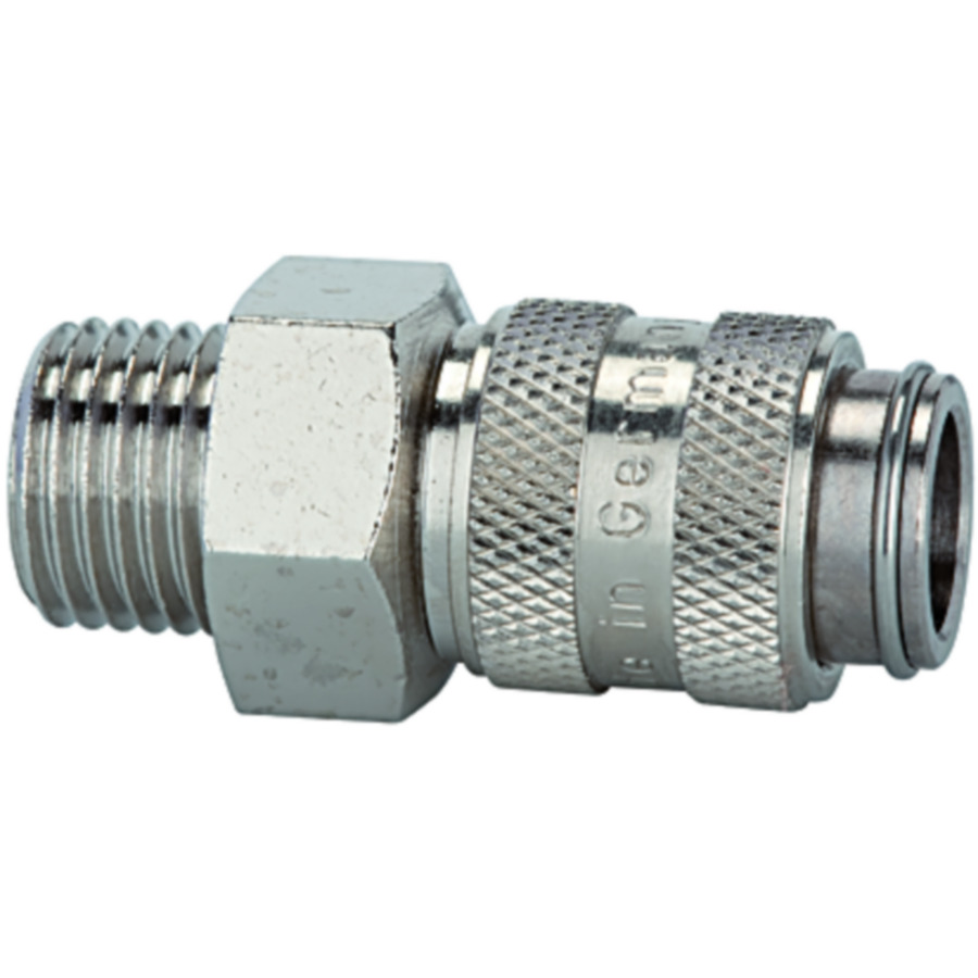 One-hand quick-lock couplings, shut-off at one end DN 5