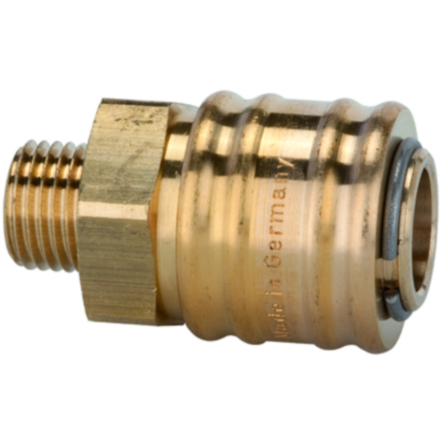Quick disconnect couplings DN 7.2, both sides sealing, brass