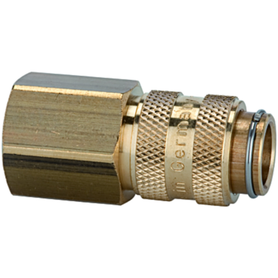 Quick disconnect couplings DN 5, brass with a bare metal surface