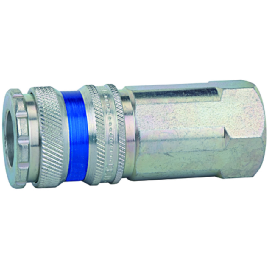 Quick disconnect couplings DN 10, galvanised  steel, brass, robust and durable »stream line«