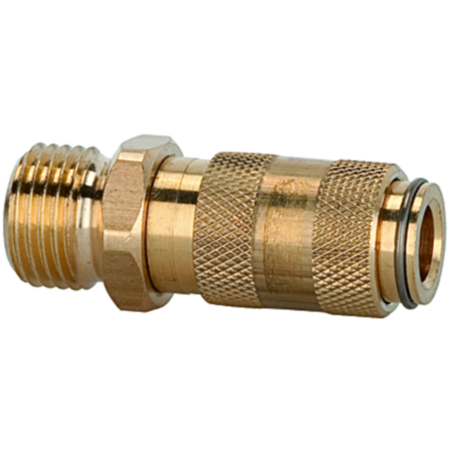 Quick disconnect couplings DN 2.7, brass with a bare metal surface
