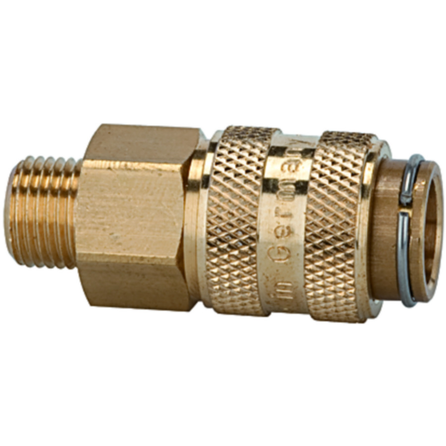 Quick disconnect couplings DN 5, both sides sealing, brass