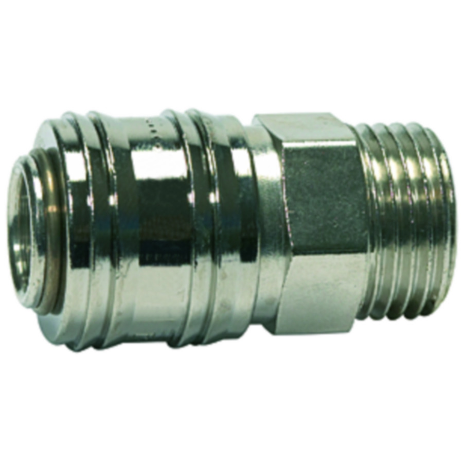 Quick disconnect couplings DN 7.2, brass with a bare metal surface, »connect line« Series
