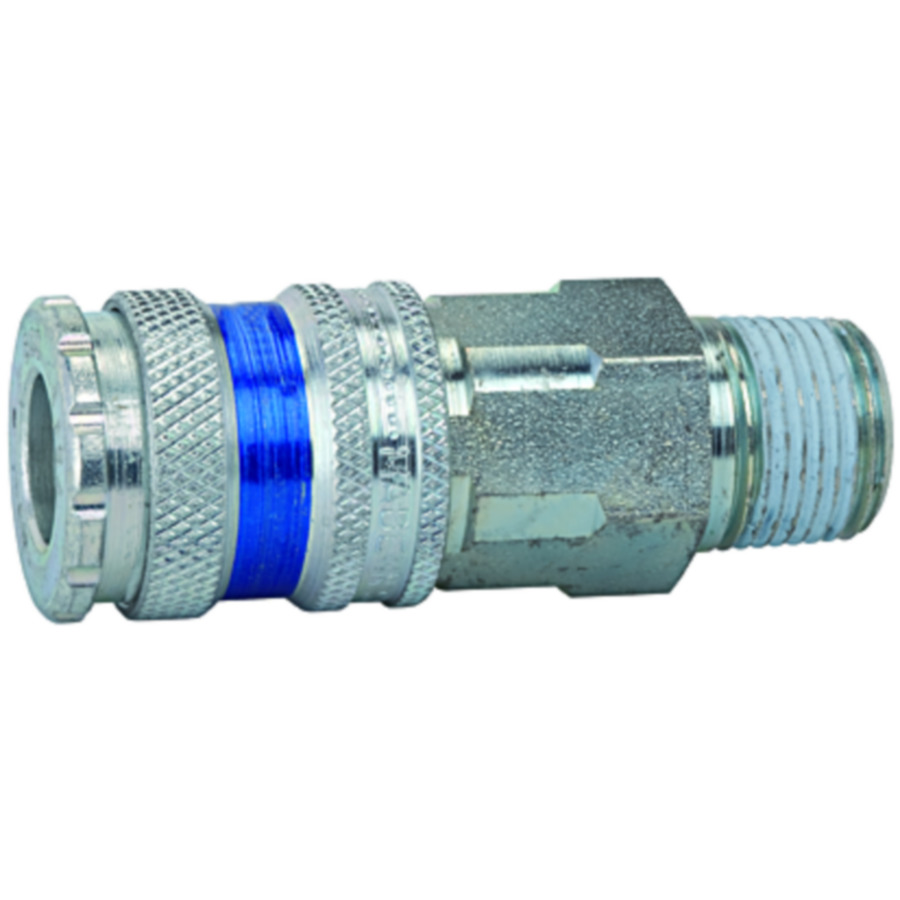 One-hand quick-lock couplings, shut-off at one end DN 7.6