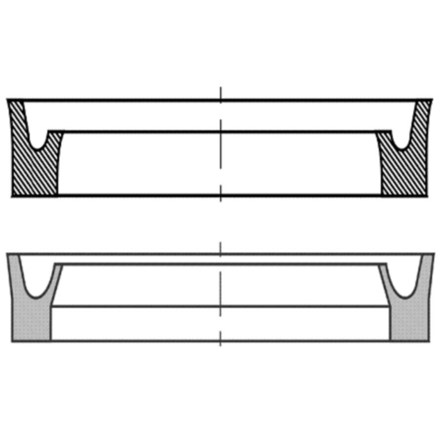 U-образное уплотнение для штока, DDI, DDIM, DDIM-P