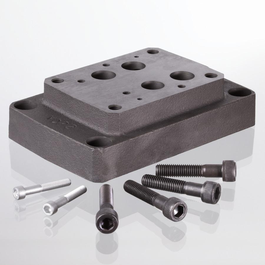 Присоединительная плита основания для ходовых клапанов CETOP