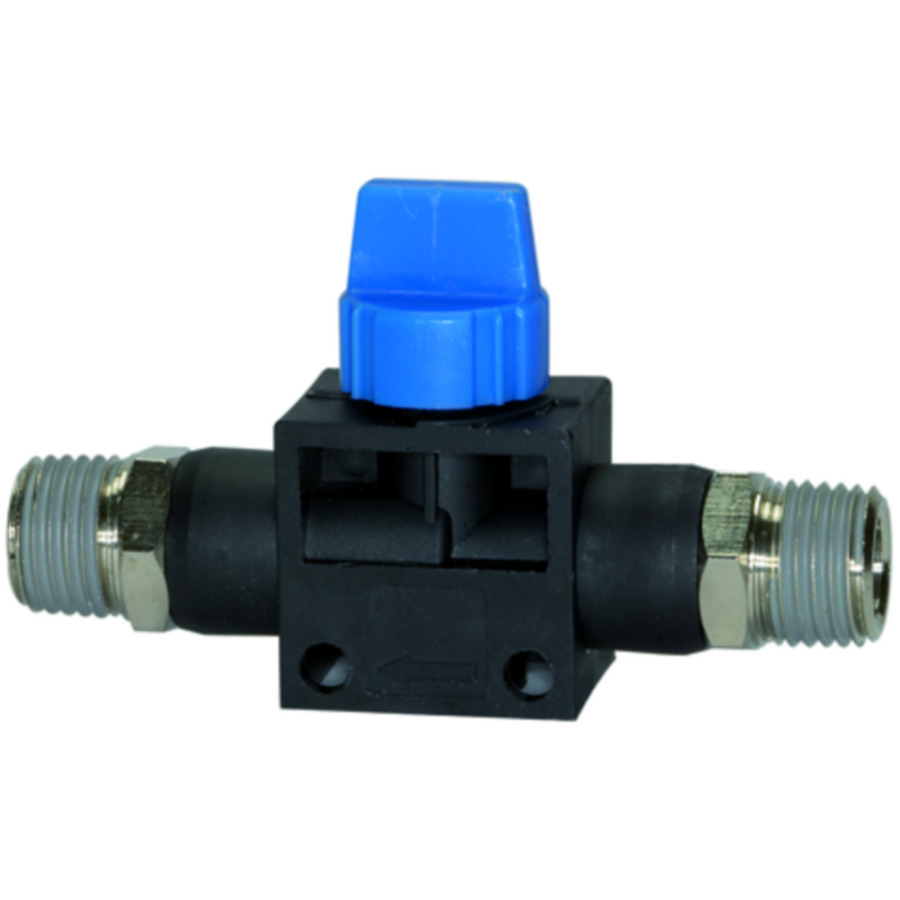 Shut-off valves with male thread »Blue Series«