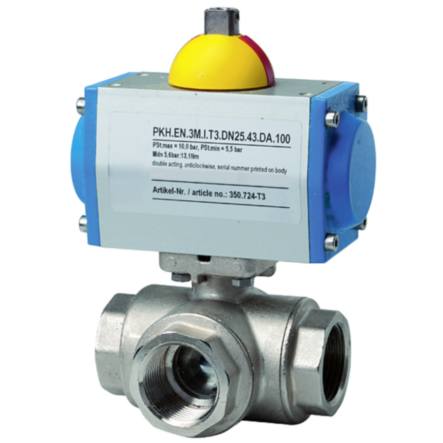 Brass ball valves 3-way