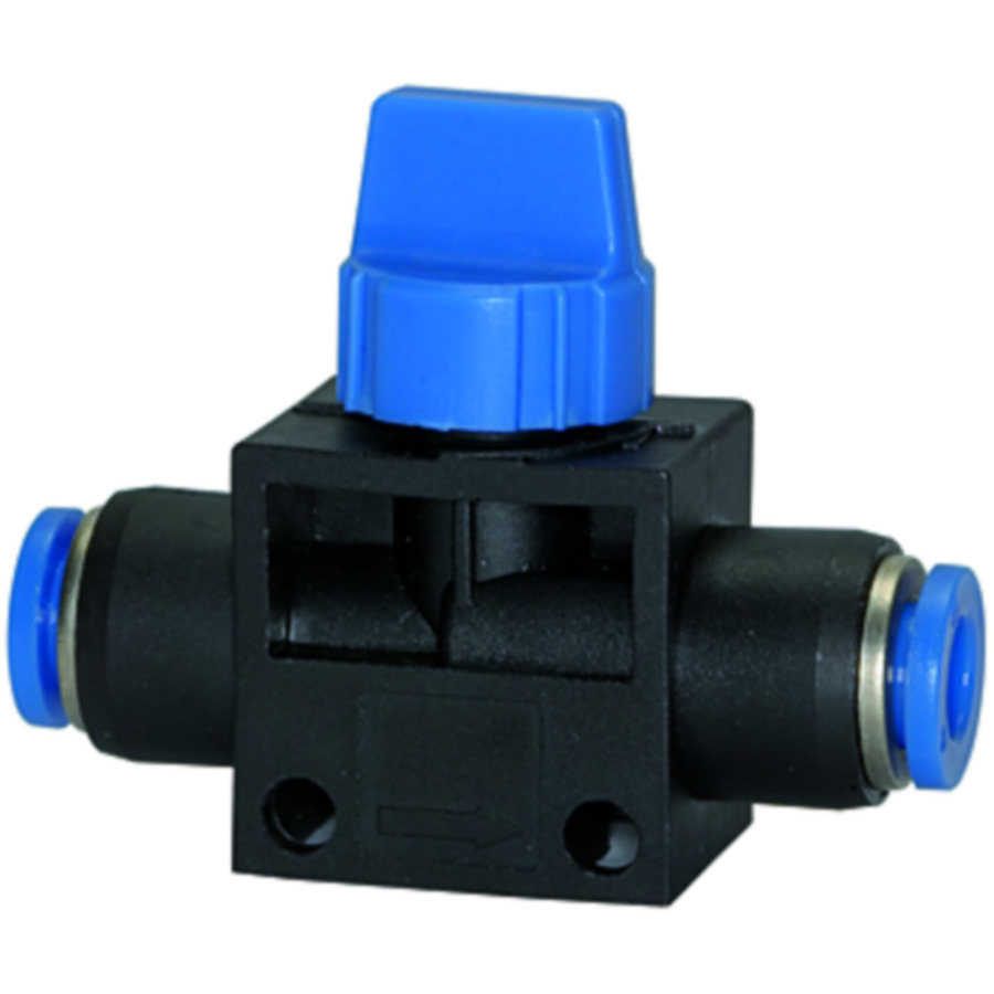 Shut-off valves with plug connection »Blue Series«
