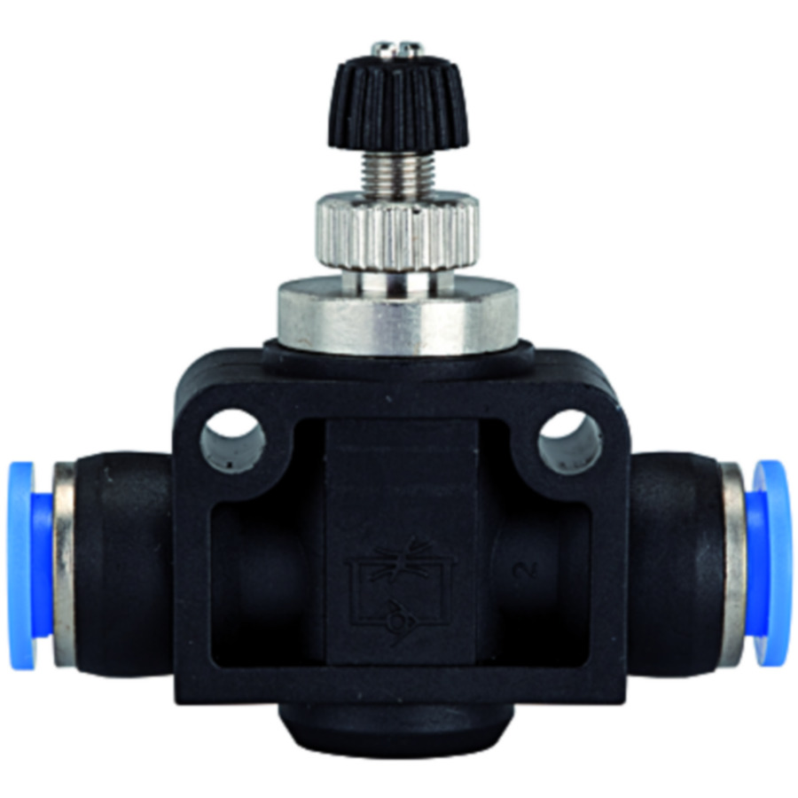 Unidirectional flow control valves with plug connection, straight type »Blue Series«