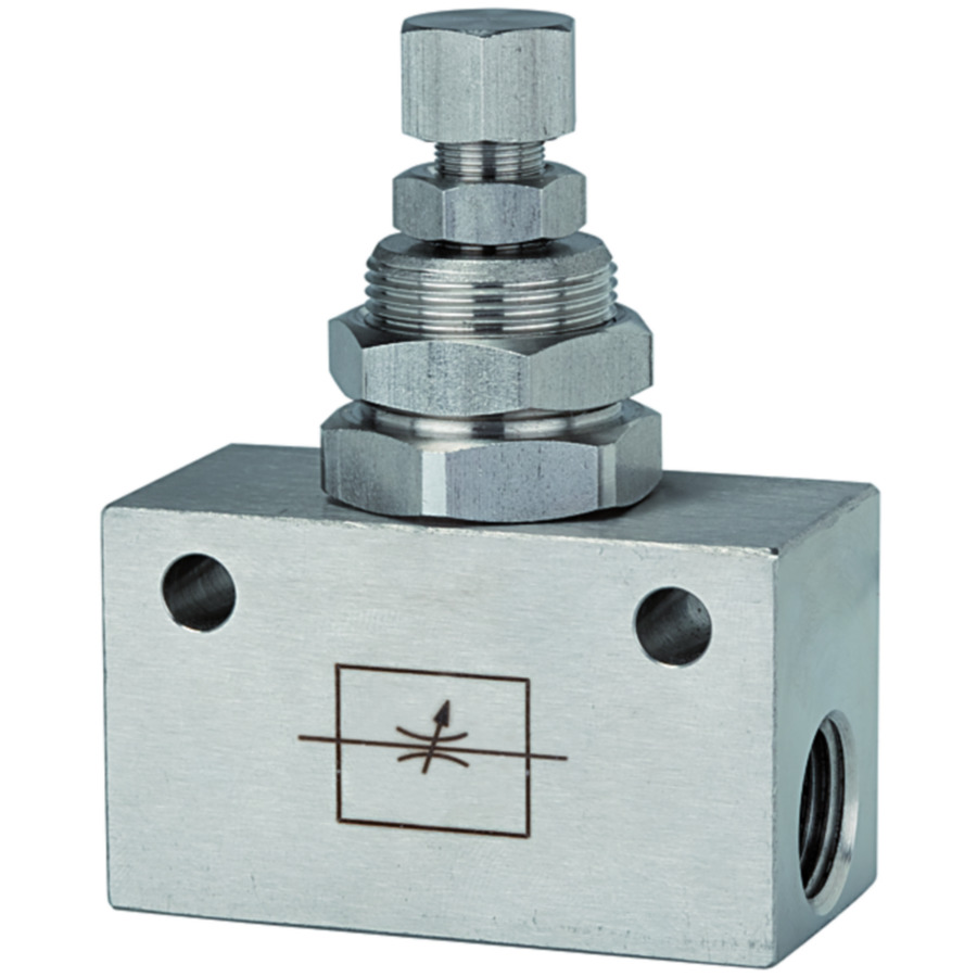 Bidirectional flow control valves stainless steel