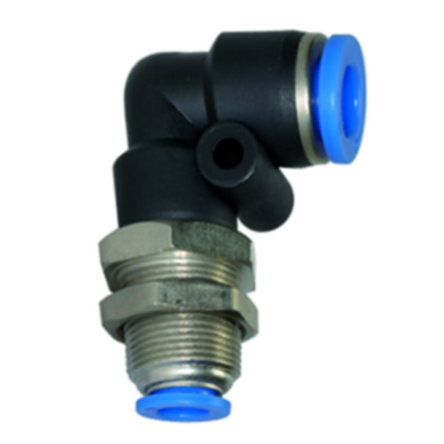 Bulkhead connectors, elbow type »Blue Series«
