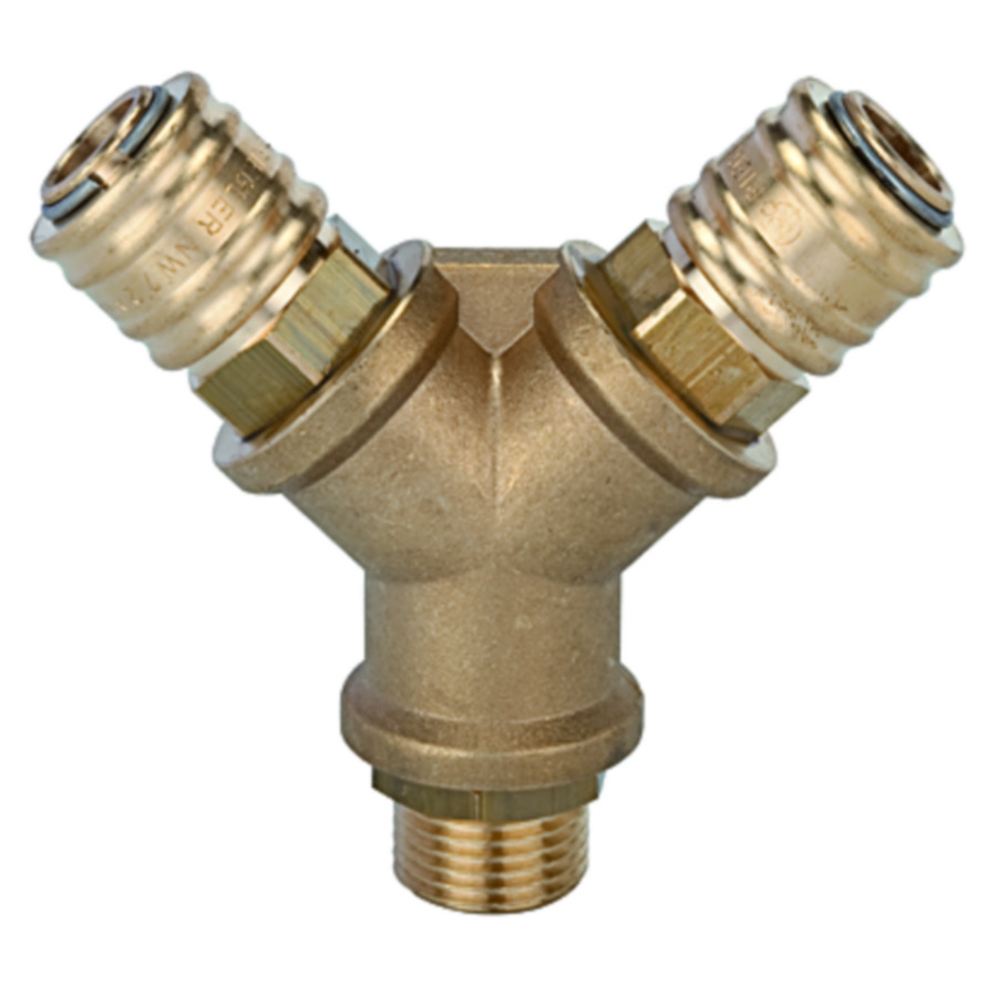 Brass distributors , with quick disconnect couplings DN 7.2
