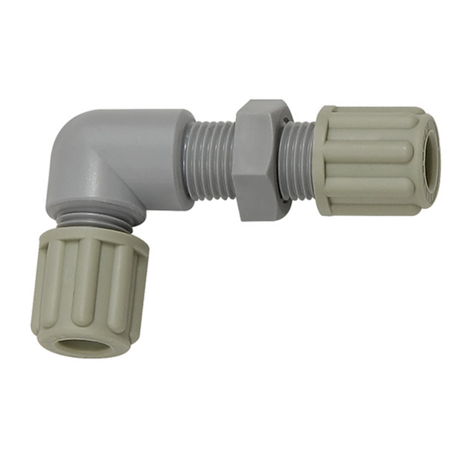 Bulkhead elbow couplings - polyamide