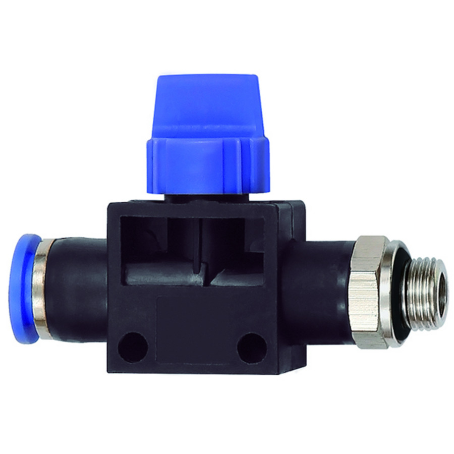 3/2-way pilot valves with male thread and plug connection »Blue Series«