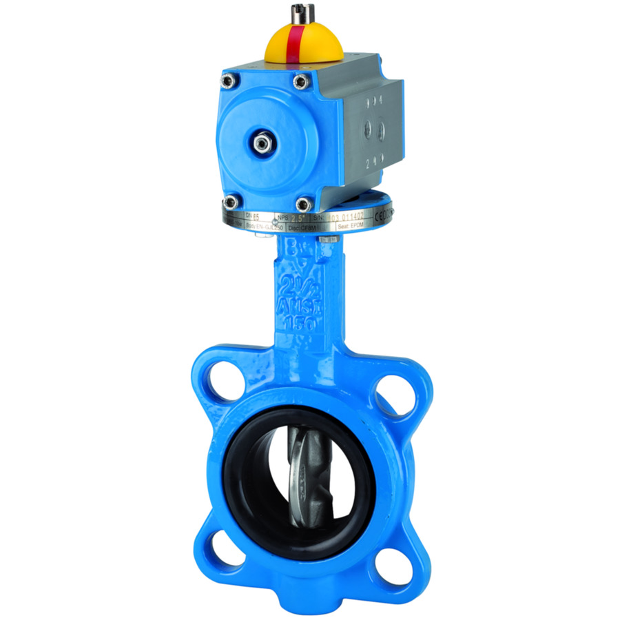Butterfly valves - With pneumatic actuator