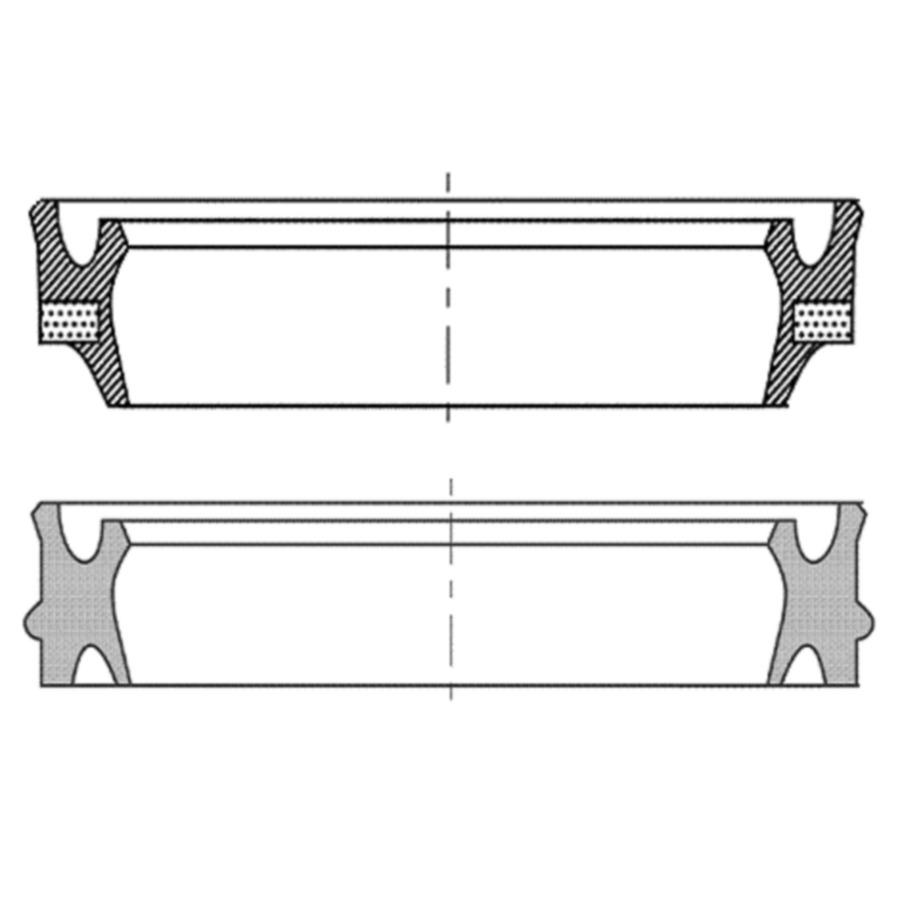 Rod wiper seals type NPSL, NPSL-P