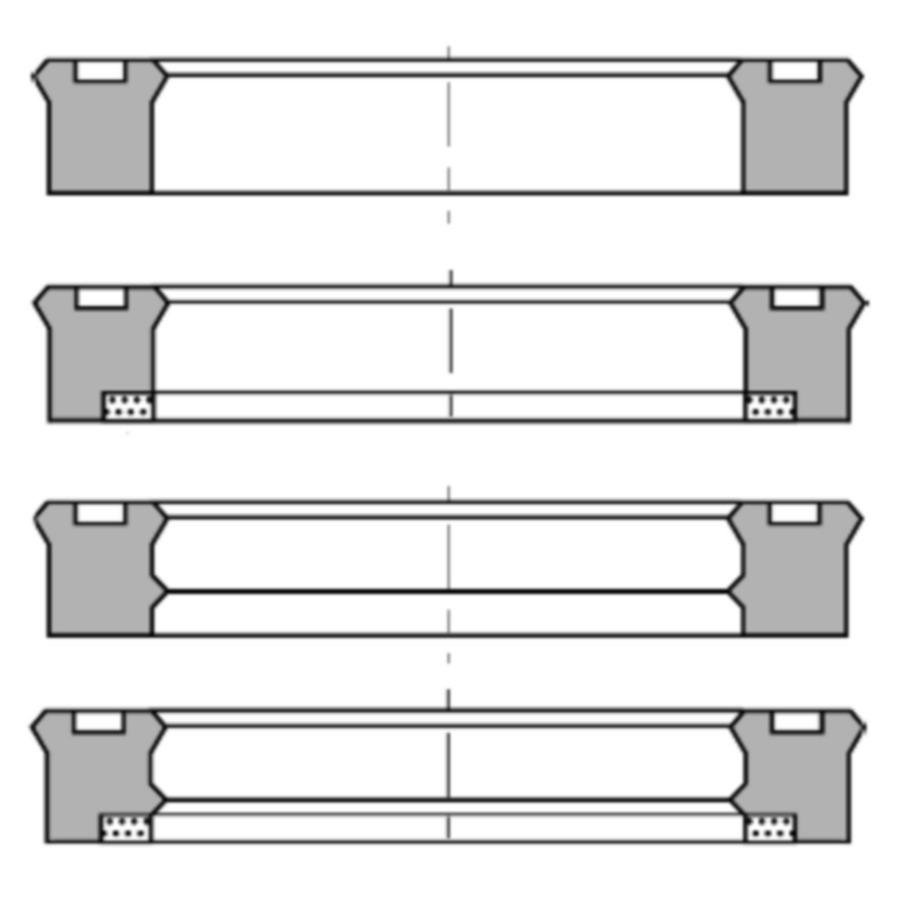 U-образное уплотнение для штока, TS, TS AI, TS-L, TS-LA