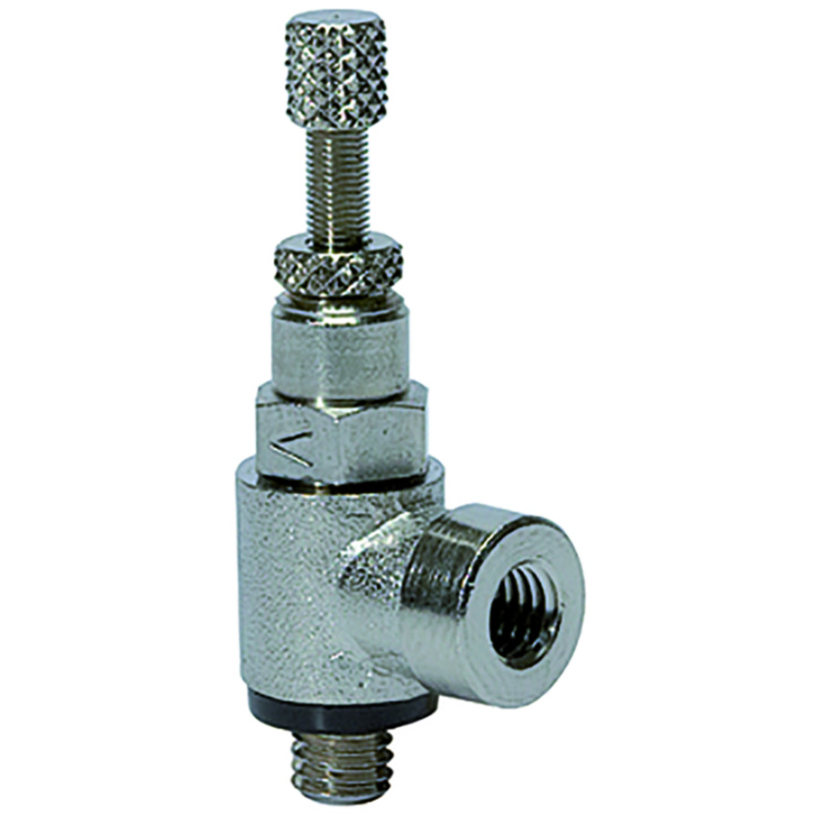 Flow control valves knurled screw V