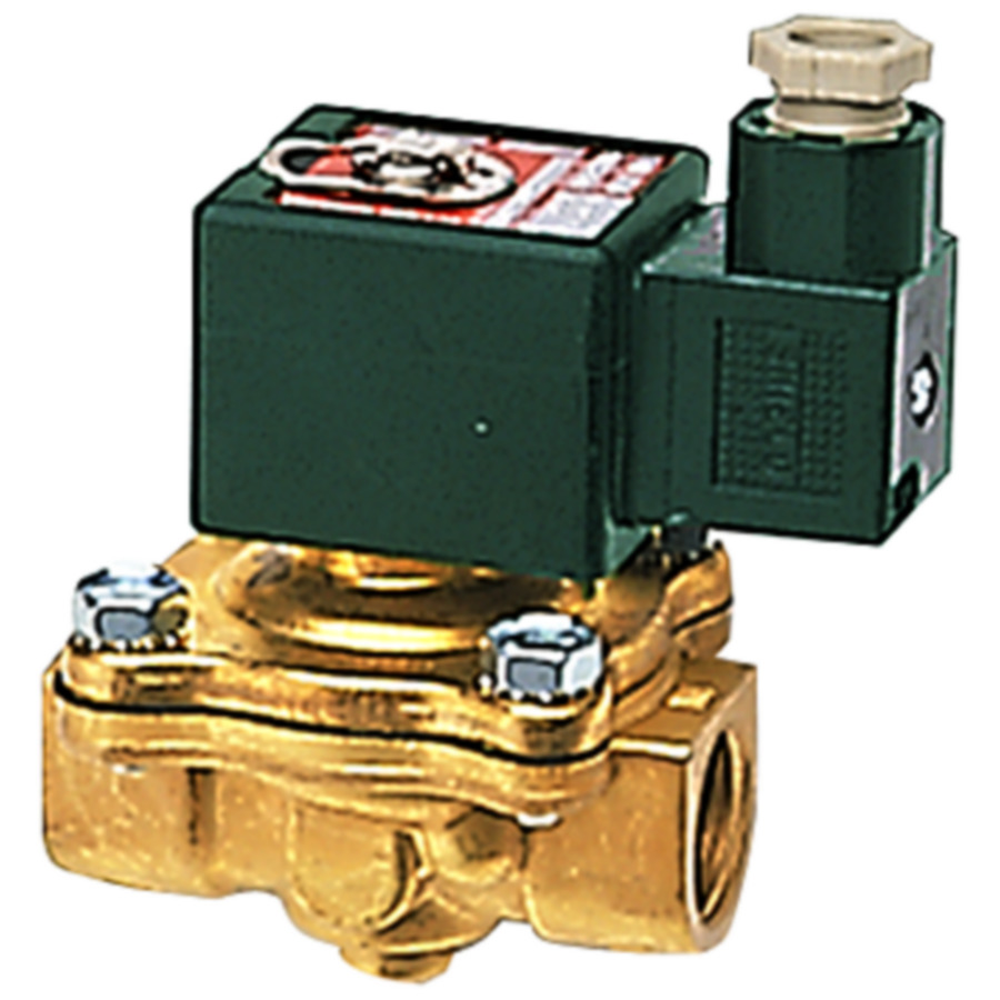 Solenoid valves, open when de-energised, combined operation