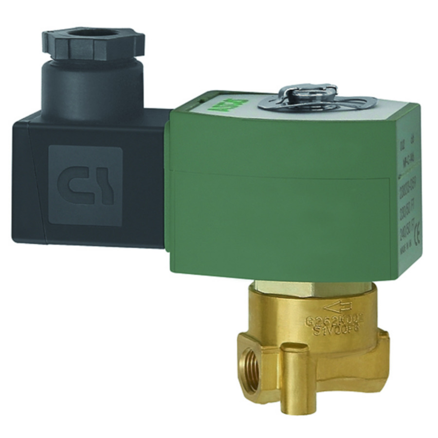 Solenoid valves, closed when de-energised, directly operated