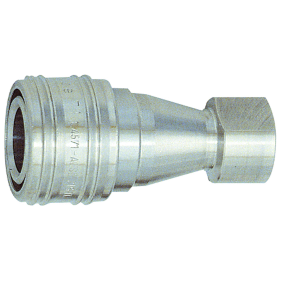 Hydraulic couplings both sides sealing